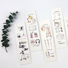 30pcs/pack Newest Novelty Bookmark Paper Bookmarkers Promotional Gift Stationery Film Bookmarks For Books Book Markers