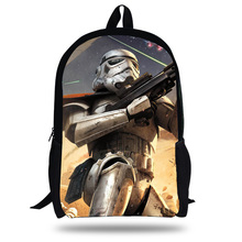16-Inch Hot Backpack School Character Star Wars Backpack For Children Boys Girls Star Wars Bag For Kids School Bag For Students