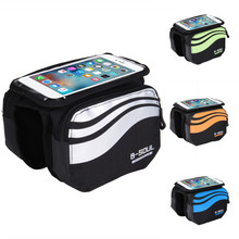 Buy Bicycle Front Touch Screen Phone Bag MTB Road Bike Cycling Mobile Bag Cycle Front Bag 5.7 Inch Cellphone Bag Bicycle Accessories for $7.63 in AliExpress store