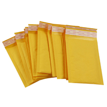 10x Bubble Mailers Padded Envelopes Packaging Shipping Bags Kraft Bubble Mailing Envelope Bags 110*150mm(China)