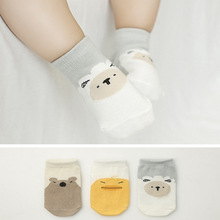 Cartoon Sheep Cute 2017 Cotton Newborn Toddler Tube Knee Socks Kids Sock for Children New Born Baby Boys and Girls 0-2 Years Old