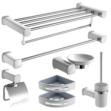 Bathroom Hardware Accessories Set Clothes Hooks Towel racks Toilet cup Paper rack Toothbrush buckle/cup Bath Shelf Pendant suite(China)
