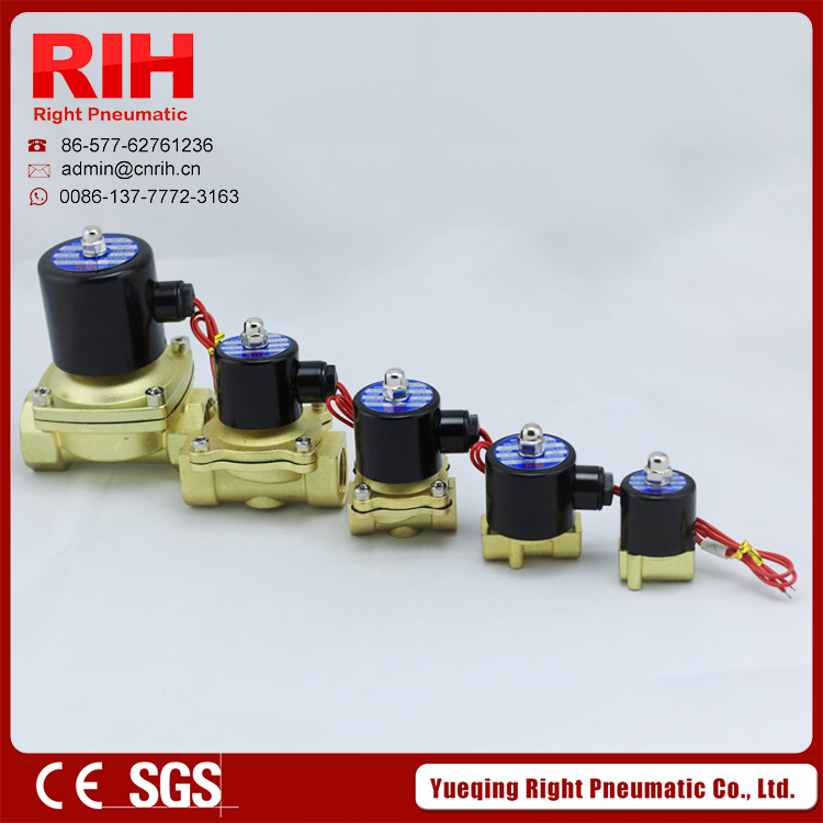 RIH brand Normal Closed Brass Solenoid Valve2W160-10 / 2/2Way  normal closed brass solenoid valves 3/8<br><br>Aliexpress