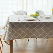 Pastoral table cloth rectangular linen table clothes cotton Plaid tablecloths for weddings Picnic table cover home garden decor(China)