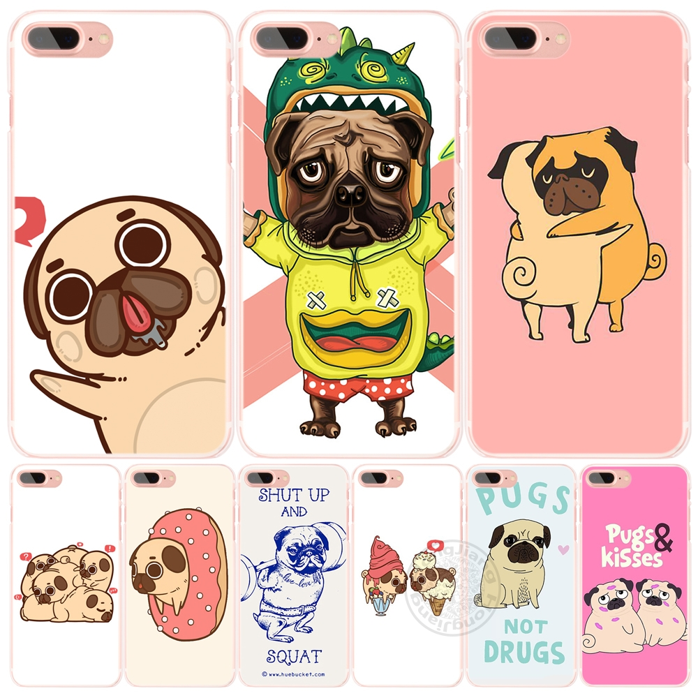 piper the pug designs cell phone Cover case for iphone 6 4 4s 5 5s SE 5c 6 6s 7 plus case for iphone 7(China (Mainland))