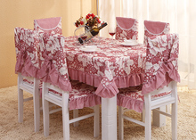 Thicken grapes printing tablecloth set suit 130*180cm table cloth matching chair cover 1 set price 3 colors free ship
