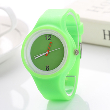 2017 Fashion Ice cream color Ultra-thin fashion gift silicone watch GUOTE silicone Wristwatch 932(China)