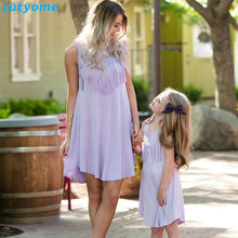 Cutyome Family Matching Mother And Daughter Dress Outfits Tassels Mommy And Me Parent Girls Princess Wedding Dresses Clothes