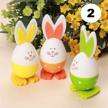 The Best Quality 3PCs New Cute Bunny Shaped Easter Eggs Hanging Gift Kindergarten Decor Child 3 Styke