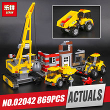 Lepin 02042 869Pcs Genuine The Demolition Site Set 60076 Building Blocks Bricks Educational Toys As Kid`s Birthday Funny Gifts(China)