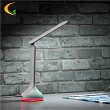 Colorful Touch Switch Multi-function power bank Folding LED Desk Lamp usb led lamp Portable Rechargeable Battery Book Light.