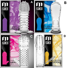 Buy Mingliu Penis sleeve Reusable Condoms men Delay condom Cockring Preservativo Penis extender Cock ring Sexual products