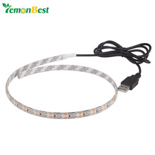 50cm USB LED Strip Light Waterproof 5V SMD3528 Strip Light RGB Warm Cold 0.5m Flexible Strip TV Background Lighting Strip(China)