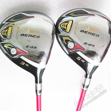 Cooyute New womens Golf clubs HONMA S-03 3/15 5/18 Golf fairway wood with Graphite Golf shaft wood clubs free shipping