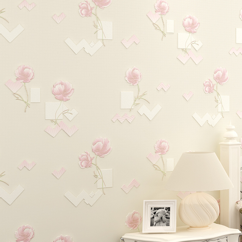 beibehang Fine 3d pastoral flowers wallpaper for walls 3d Non-woven Wall Covering Paper For Backdrop Wall Papers Home Decor roll<br>