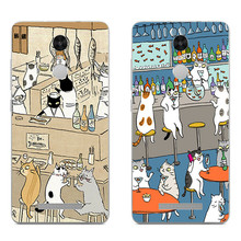 For Xiaomi Redmi 3 Note 4 Pro Phone Case Mi 4 4i 4c 4s 5 Max Note 2 Shell Transparent Cover Soft Silicon Cat Drink Pattern Skin