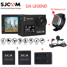 "Original SJCAM SJ6 LEGEND 4K 2.0"" Touch Screen Sports Action Camera Sj DVR+2 Battery+Dual Charger+ Remote Watch +Microphone(China)"