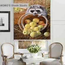 MOMO Thermal Insulated Blackout Fabric Custom Painting Window Curtains Roller Shades Blinds,PRB set554-559