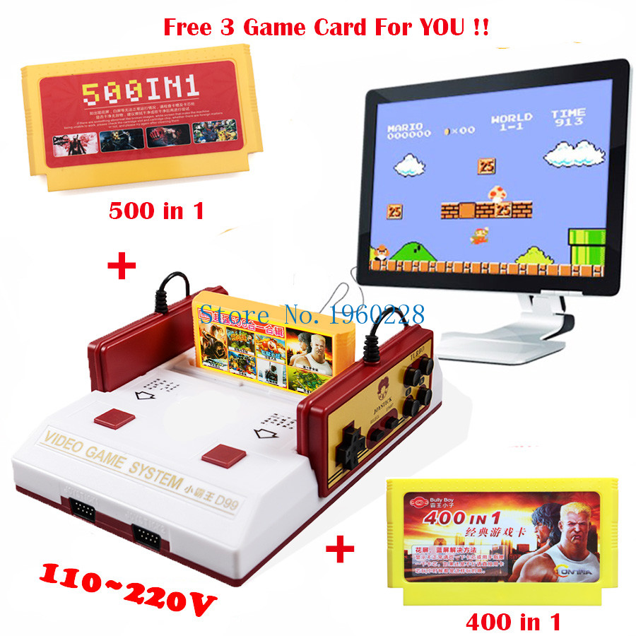 2017 New Hot Classical 8 Bit Family TV Video Game Console Player With PAL Format Free 500 in1+4000 in1 Game Card Free Shippinng(China (Mainland))