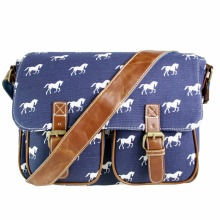 YD1157 Miss Lulu Women Messenger Bags Horse Pony Canvas A4 Large Cross Body Bags for Girls Shoulder Satchel School Bags