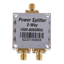 High Frequency 1.5-8Ghz Power Divider 1500~8000Mhz  RF 2 Way SMA Power Splitter Combiner SMA Female Connector 8G Signal Splitter