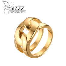 SIZZZ Rings for Women Trendy X Cross Long Rings for Wedding Party Jewelry Wholesale alliances of woman man