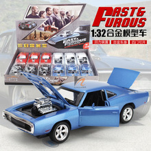 Direct manufacturers 1:32 American muscle car modified cars 1970 dodge with light alloy back sound