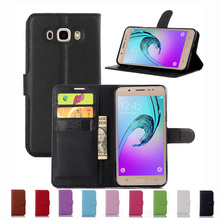 Wallet Case For Samsung Galaxy J7 2016 J710 J7108 PU Leather Kickstand TUP Back Shell Pink Rose Green Purple Blue Black White