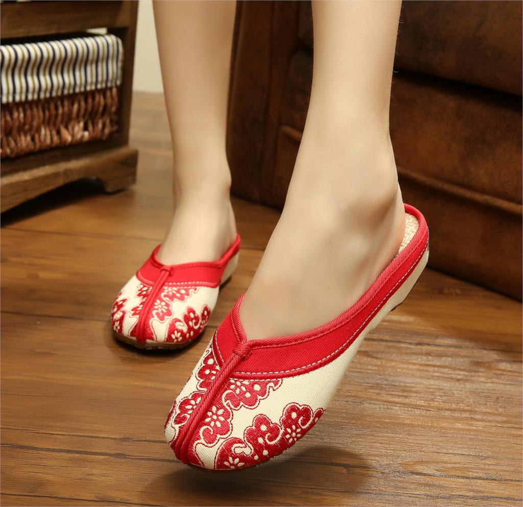 Summer new women sandals shoes high quality blue and white porcelain fashion embroidery Chinese national style retro flip flops<br><br>Aliexpress