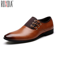 ROXDIA patent leather men formal shoes spring autumn for man oxford dress shoes business wedding Male Flat RXM061 size 39-44