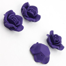 10pcs/lot Wholesale High Quality Lovely Dark Purple Flower Clay Fashion Beads Fit DIY Jewelery Makings 113651
