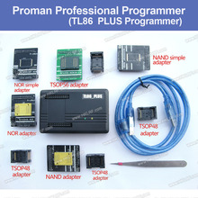 ProMan Professional Programmer Repair Tool TL86 PLUS Programmer+TSOP48 Adapter+TSOP56 Adapter Copy Nand Flash Chip Data Recovery(China)