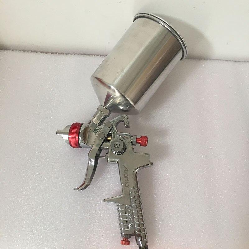 SAT0097 spray tank aluminum 600ml air spray gun kit pneumatic atomizer car painting gun<br>