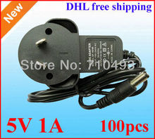 100pcs / Lot AC 100-240V to DC 5V 1A 1000mA Power Adapter Supply 5V adaptor Australia AU Plug free shipping Wholesale(China)