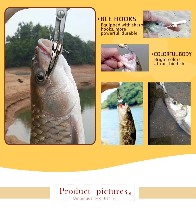 DD spoon fishing lure 5g 10g 15g 20g silver gold carp metal fishing bait spinnerbait Treble Hook hard lures China