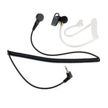 3.5mm Radio Earpiece Listen Only Mono Jack Transparent Acoustic Tube for Motorola PR1500 HT1000 Ham Radio Walkie Talkie C2140A