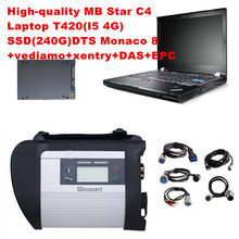 High quality obd 2 scanner mb star c4+Laptop T420(I5/4G)+2017 03 vediamo/DTS SSD Professional for Mercedes benz car diagnosti to