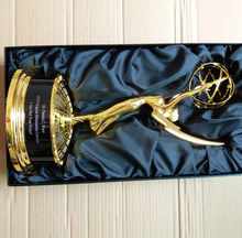 Full Size 39CM Replica Emmy Metal TV Movie Music Trophy Souvenirs Award Free Engraving(China)