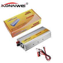 KONNWEI Car inverter 2000W DC 12 v to AC 220 v USB 50HZ vehicle power supply switch on-board charger car inverter Free shipping