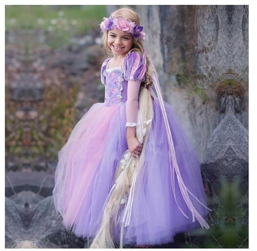 Girls Halloween Princess Dresses 2017 Autumn Long Sleeve Sofia Gauze Birthday Kids Ball Gown CHildrens Street Style Dress<br>