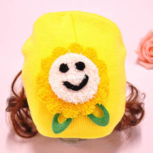 Baby wig hat  children solid color wig cap, baby beanie cute sunshine baby hat