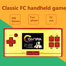 Classic retro TV video game Console children's handheld game console 2.6 inch screen 600 games tv game player for FC pocket