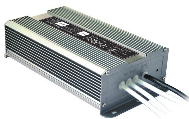 12V200W Waterproof IP67 Power supply, Constant Voltage 12V16.7A SMPS CE Rohs VDE standard cable<br>