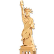 A Toy For Children 3D Wooden Puzzle Of The Statue Of Liberty A Diy Kids Toy Also Suitable For Adults A High Quality Family Gift(China)