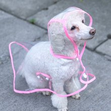 Transparent Dog Raincoats Small Teddy Dog Wear Waterproof Rain Cape(China)