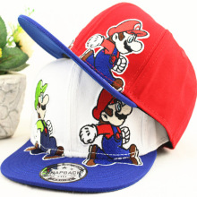 New Fashion Unisex  Cartoon Children Super Mario Cartoon Kids Baseball Cap Boys Girls Hip-Hop Hats Fit 3-7 Years