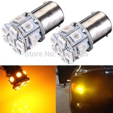 Best Price 1156 BA15S 13 LED 5050 SMD Amber Yellow Car Auto Light Source Turn Signal Lamp Parking Bulb DC12V