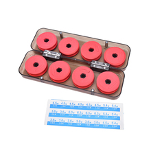 1box/8pcs Foam Winding Board Fishing Line Shaft Bobbin Spools Tackle Box RED Utility Line Box Fishing Tackle Boxes