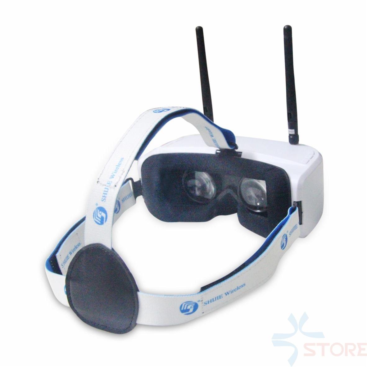 SJ RG01 5.8G 48CH Dual-Displays Diversity FPV Video Goggles w/ 3.7V 1500mAh Battery DVR