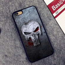 Punisher skull Frank Castle Full Protective case Cover For iPhone X 8 7 7Plus 6 6S Plus 5 5S 5C SE(China)